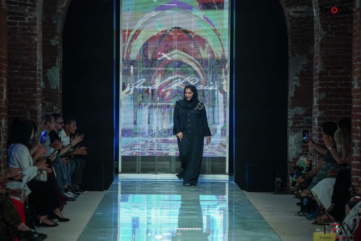 Amal Al Raisi Presents at Torino Fashion Week